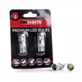 BLISTER 2pcs- EPL199 W5W 5 SMD PHILIPS 3030 CANBUS 6000K