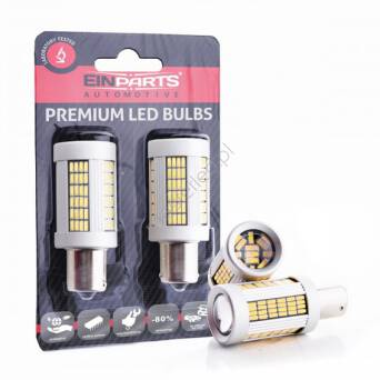 EPL159 1156 P21W 135 SMD 4014 Canbus Amber 2 pcs
